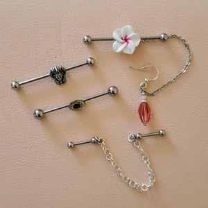 👂🏼👂🏿 Industrial Piercing Jewelry 👂🏼👂🏿